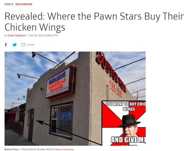 Pawn Stars Boston Pizza Wings